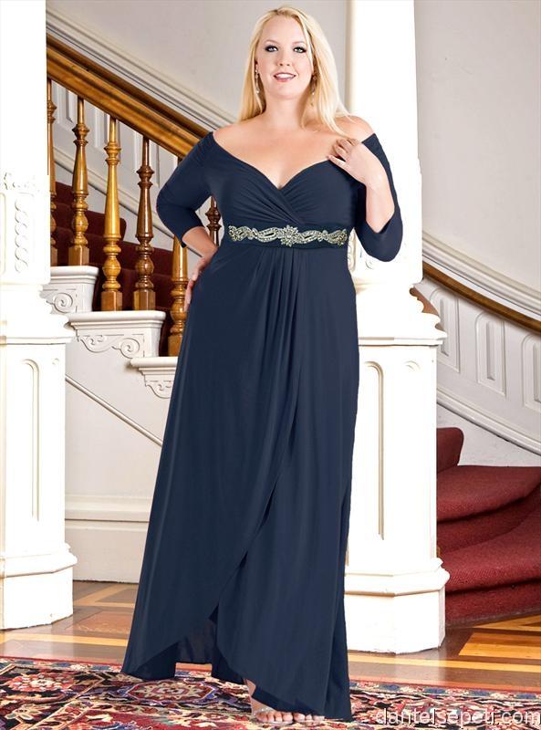 Модель вечерних платьев для полных женщин