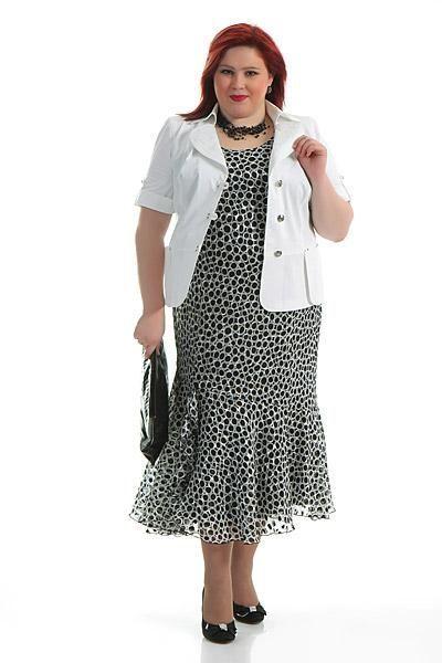 Платья для очень полных пожилых женщин